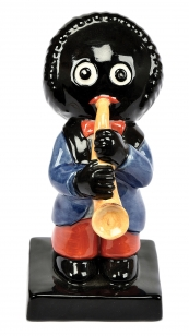 Carlton Ware Large Band Saxophone Golly porcelain figure