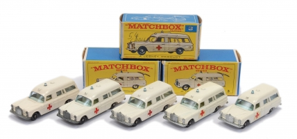 Matchbox Regular Wheels group of 5 x No.3c Mercedes Benz Binz