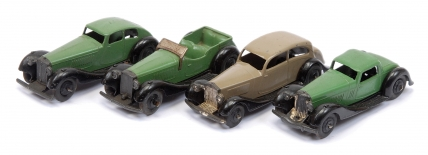 Dinky unboxed group to include No.36f British Salmson 4-seater