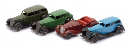 Dinky unboxed group to include No.30d Vauxhall